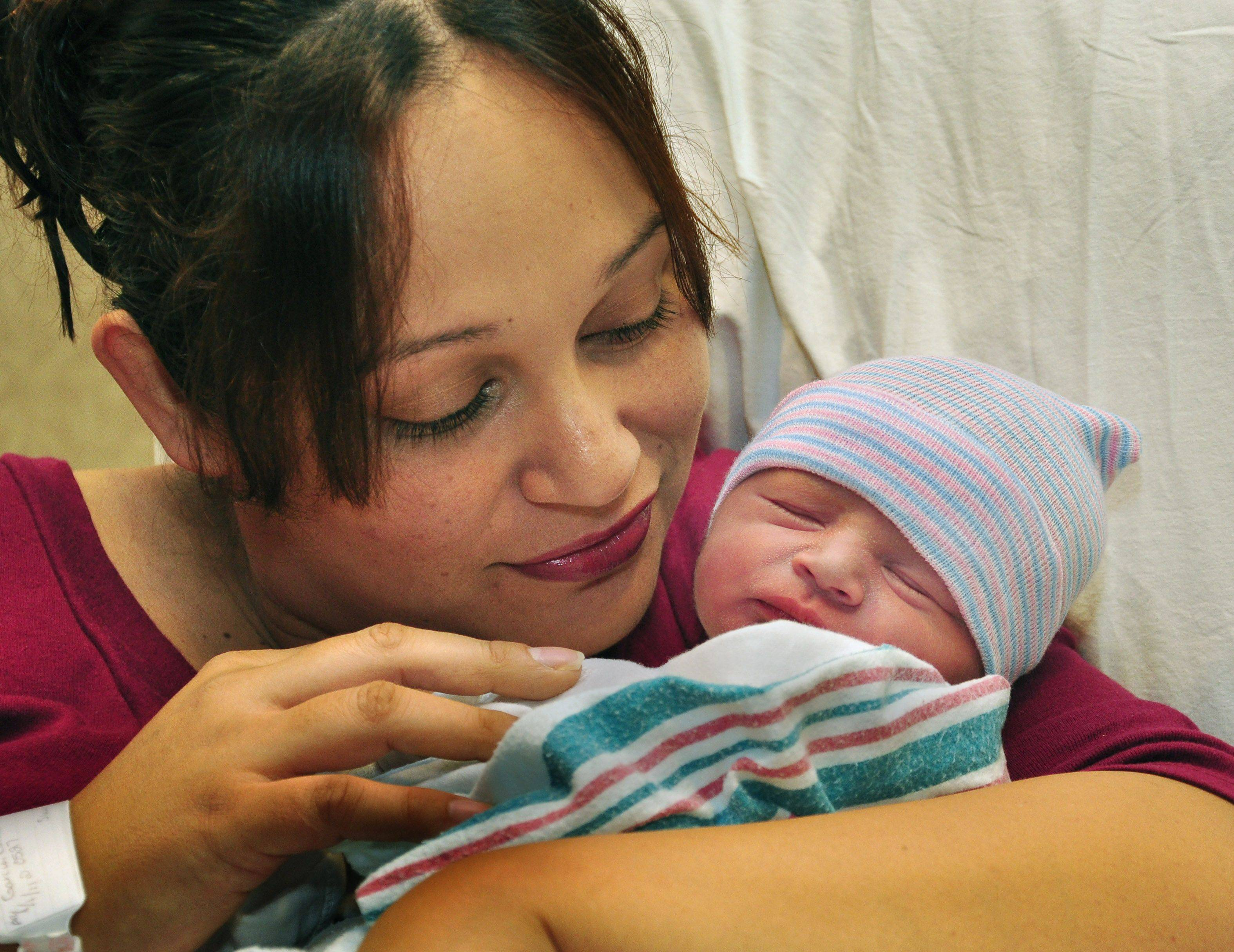 Lake County's first baby of 2011, Jakob Garcia, was born at 5:27 a.m.