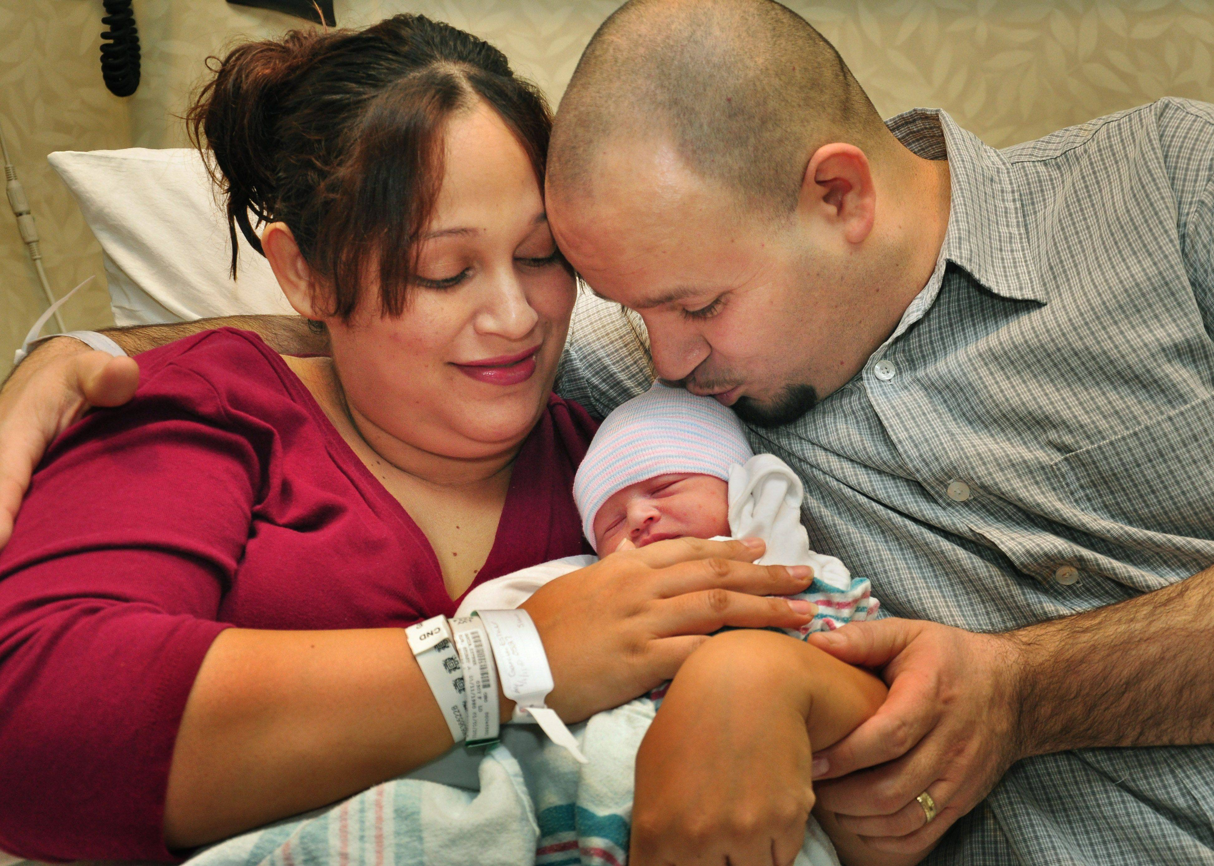 Lake County's first baby of 2011, Jakob Garcia was born at 5:27am. He weighed 7lbs 11 oz and was 20.5 inches long. Parents are Esther and Javier Garcia of Round Lake.