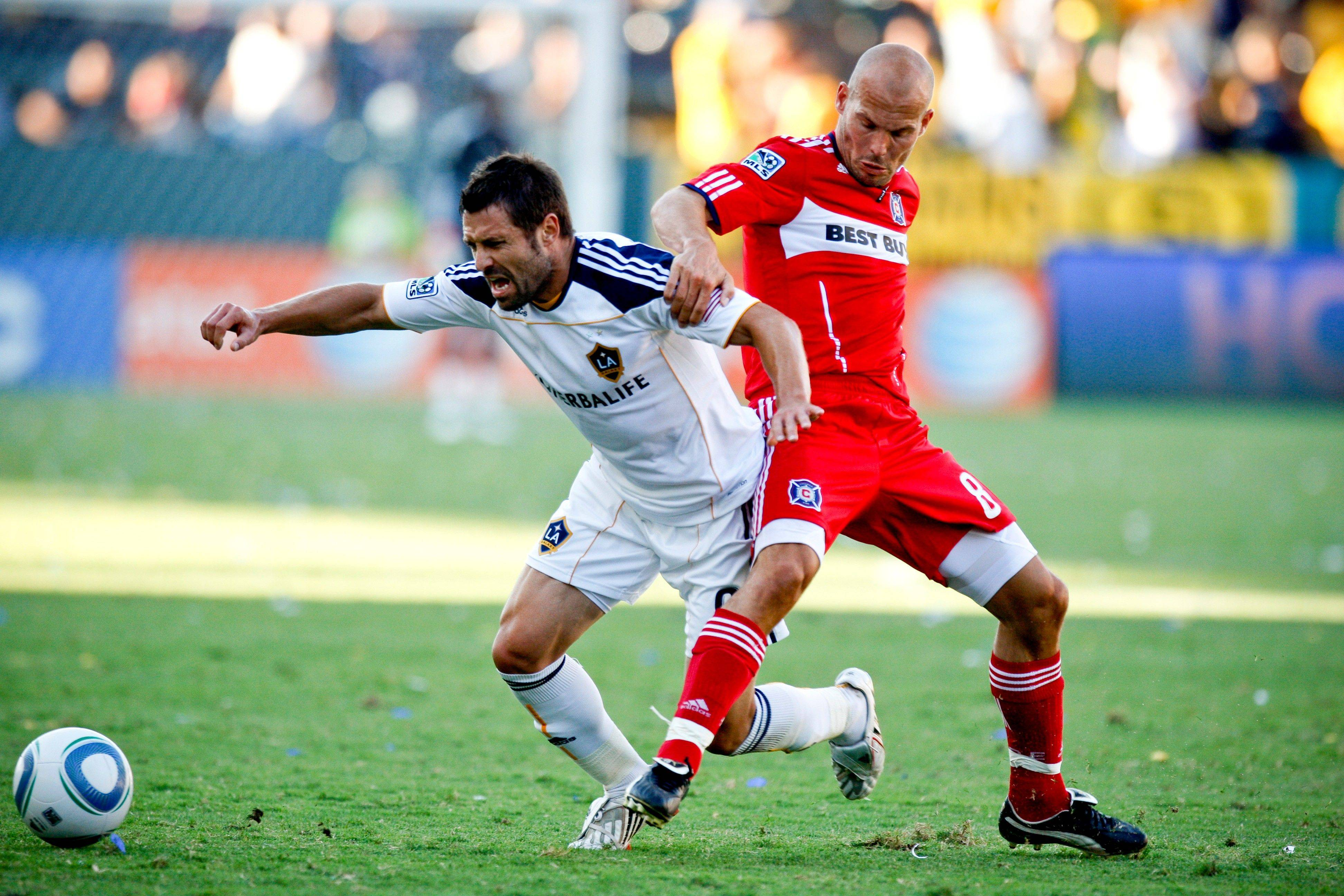 Fire midfielder Freddie Ljungberg, right, is gone after less than a full season and has signed to play in Europe. He represents just one of many departures the local MLS franchise has to fill for next season.