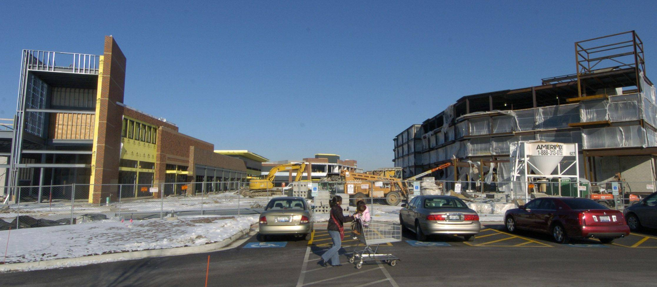 Contruction of the Randhurst Village lifestyle center, Mount Prospect, is in progress.