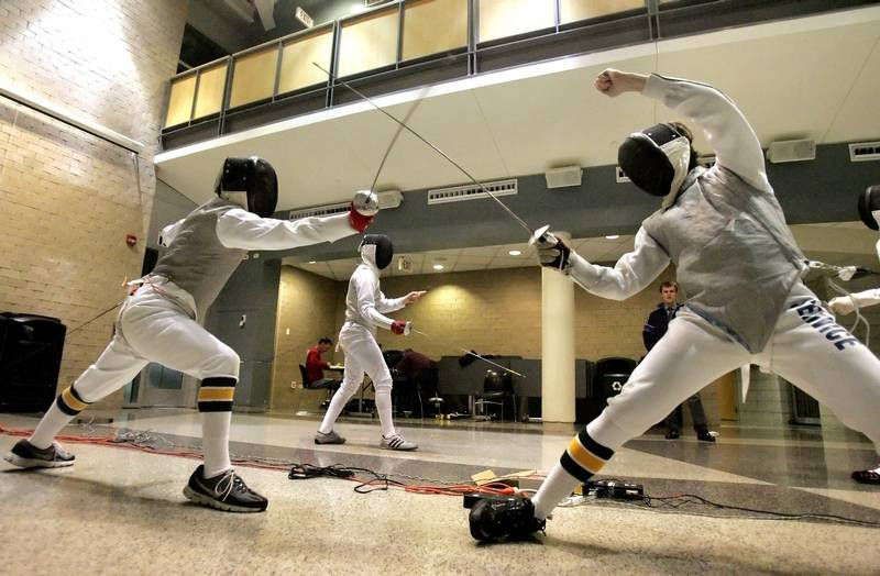 Fencing team growing at stevenson high dailyherald