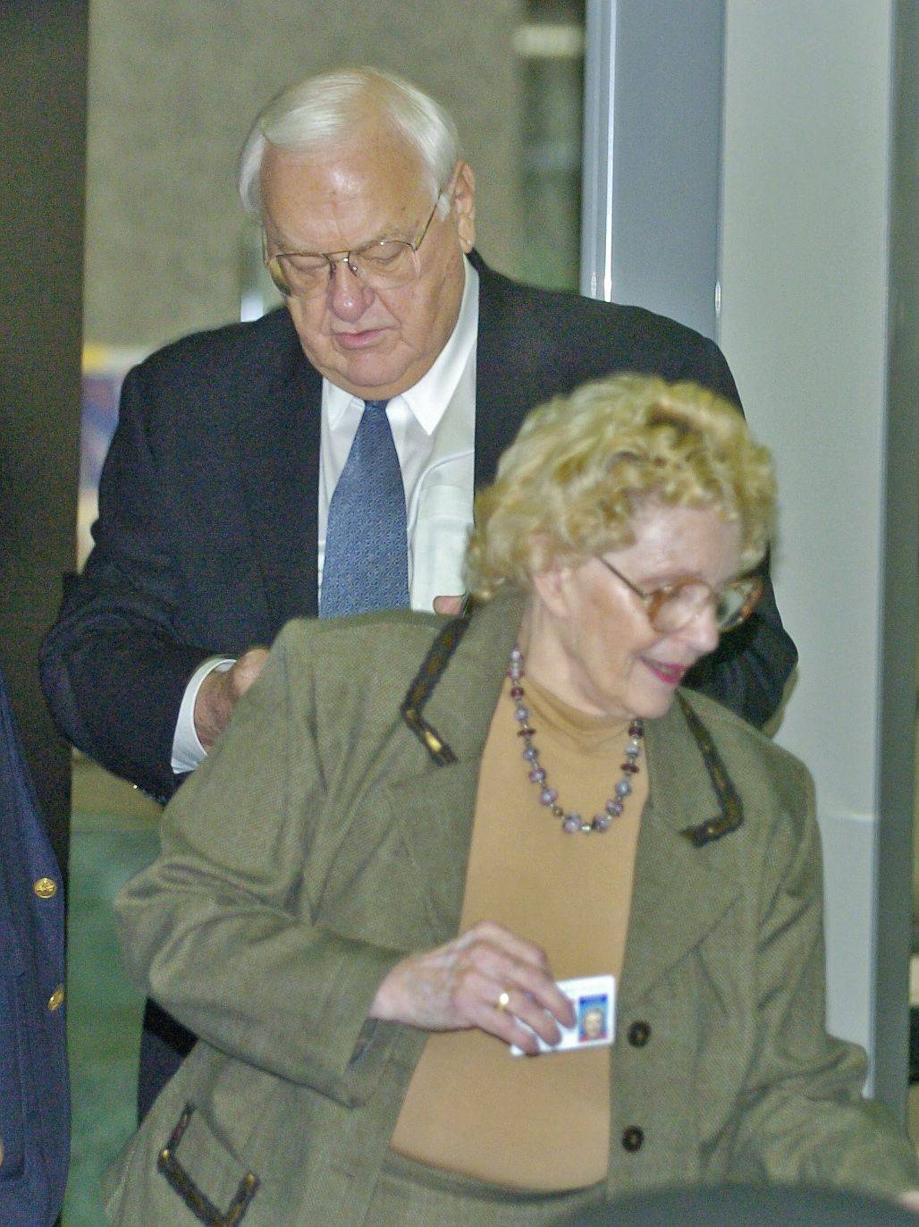 Former Illinois Gov. George Ryan and his wife Lura Lynn seen in what now could be considered better days, the start of the 2005 trial that sent him to prison.