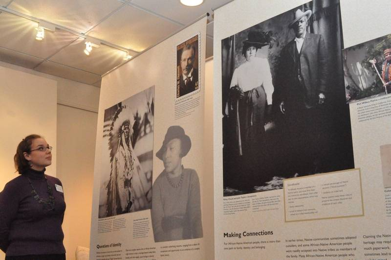 Exhibition Booth Assistant : Exhibit in aurora examines african native american lives