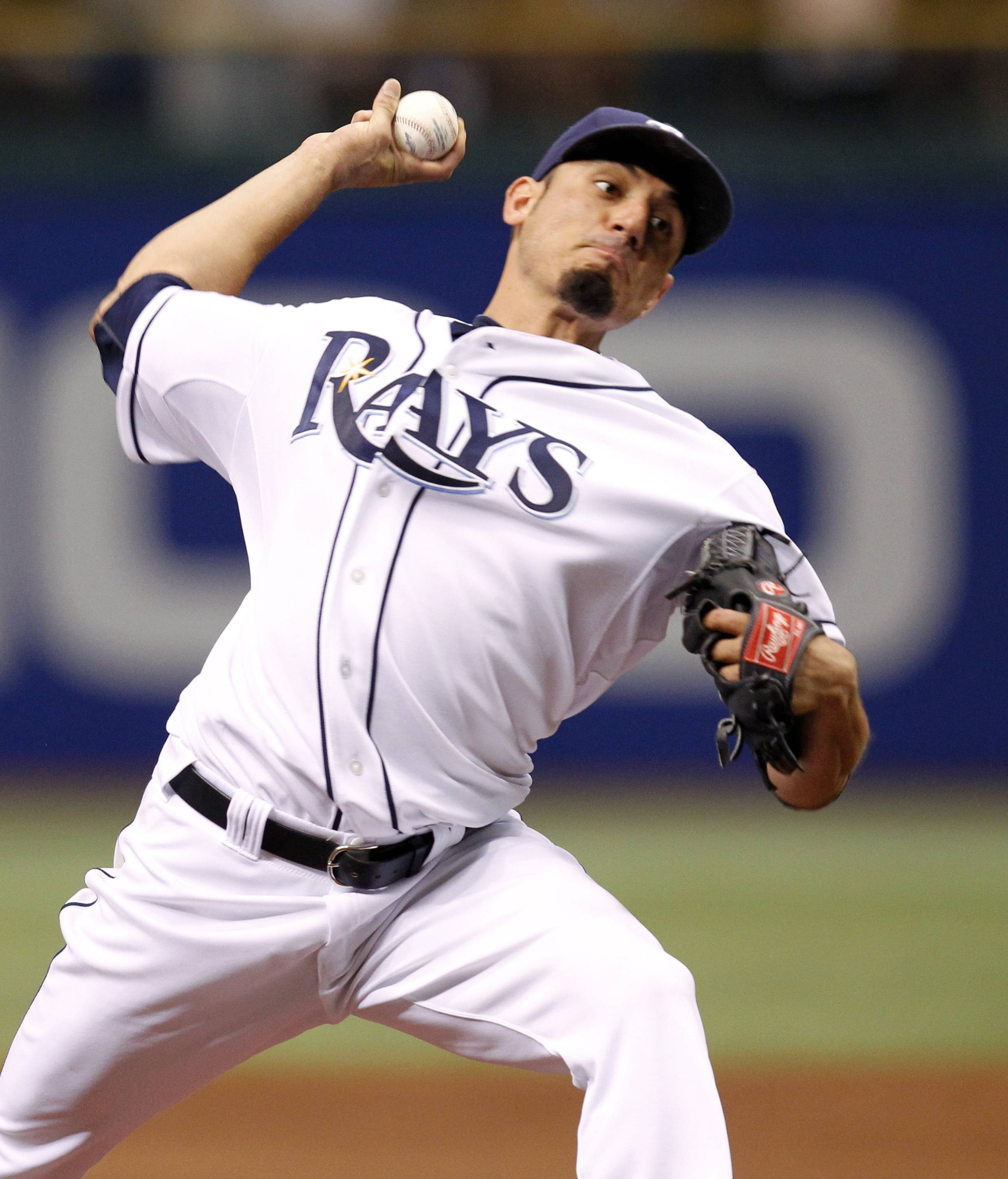 Matt Garza pitched the first no-hitter in Tampa Bay Rays history.