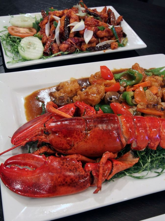 Both the honey chili potatoes and the Chef special lobster provide a nice balance of sweetness and spice at Bombay Chopsticks in Hoffman Estates.