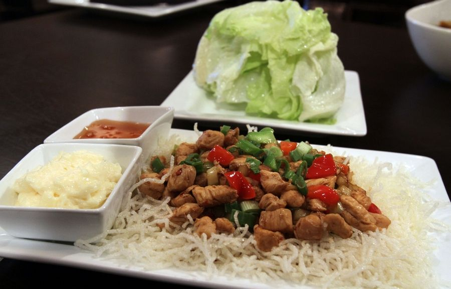 Chicken lettuce wraps are among the starter options at Bombay Chopsticks in Hoffman Estates.