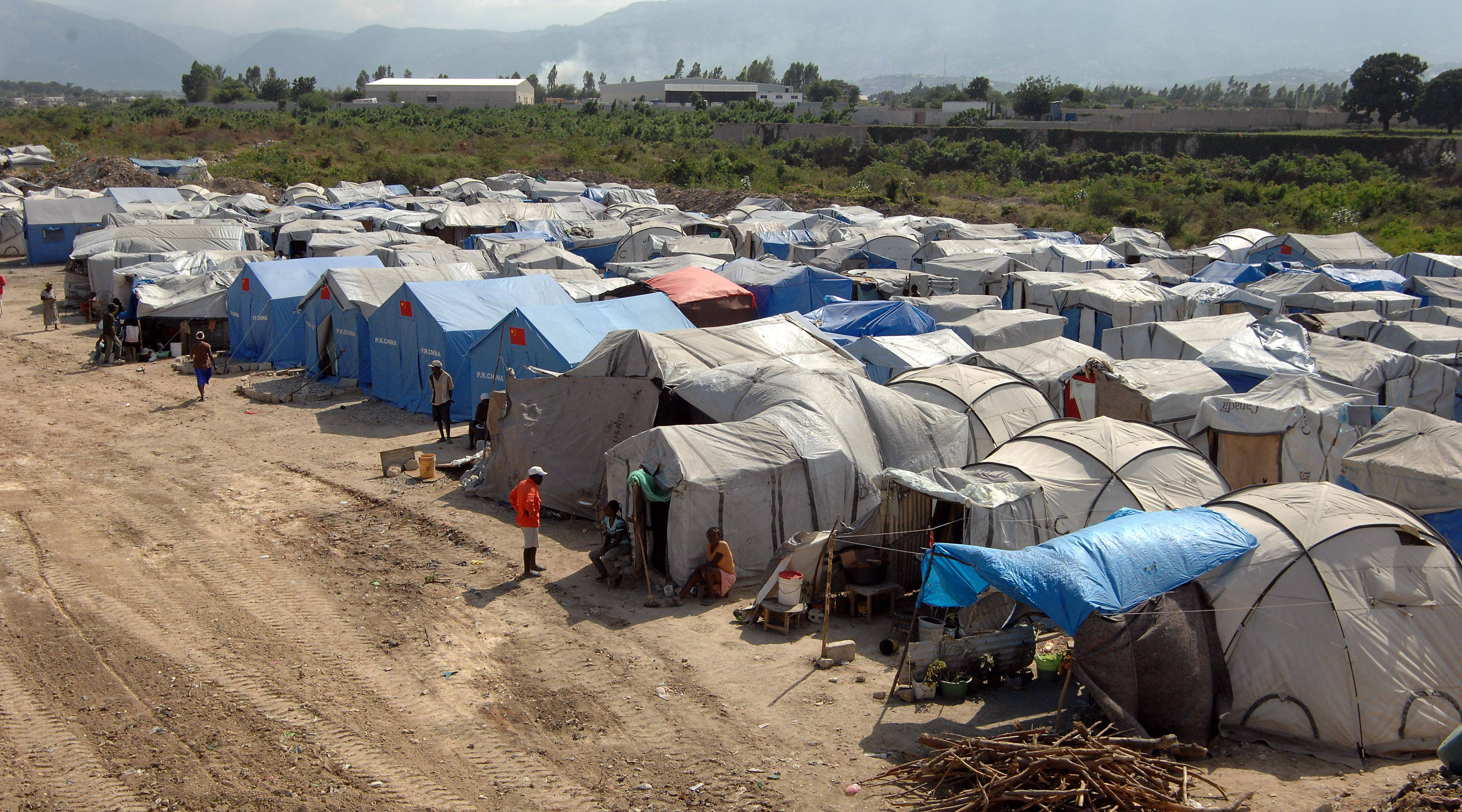 Tent cities spring up just about everywhere in Port-au-Prince one year after a catastrophic earthquake shook Haiti.