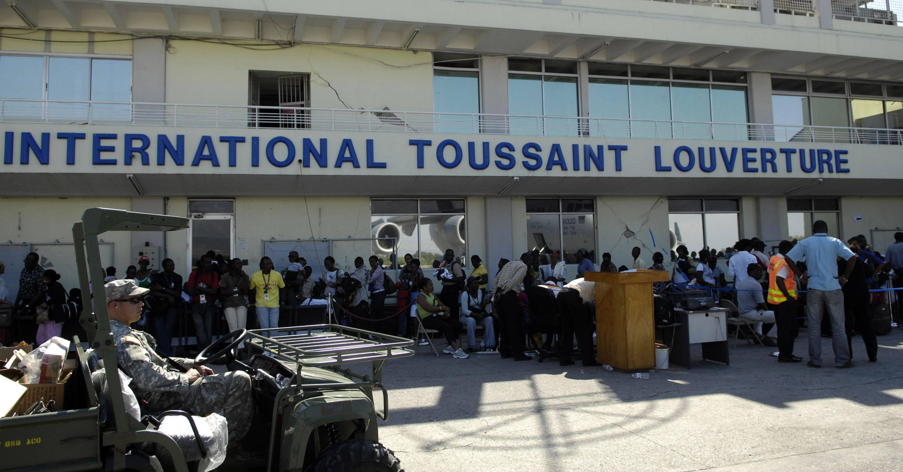 US citizens living in Haiti reported waiting over 10 hours through various layers of processing through several organizations in order to get on a flight.