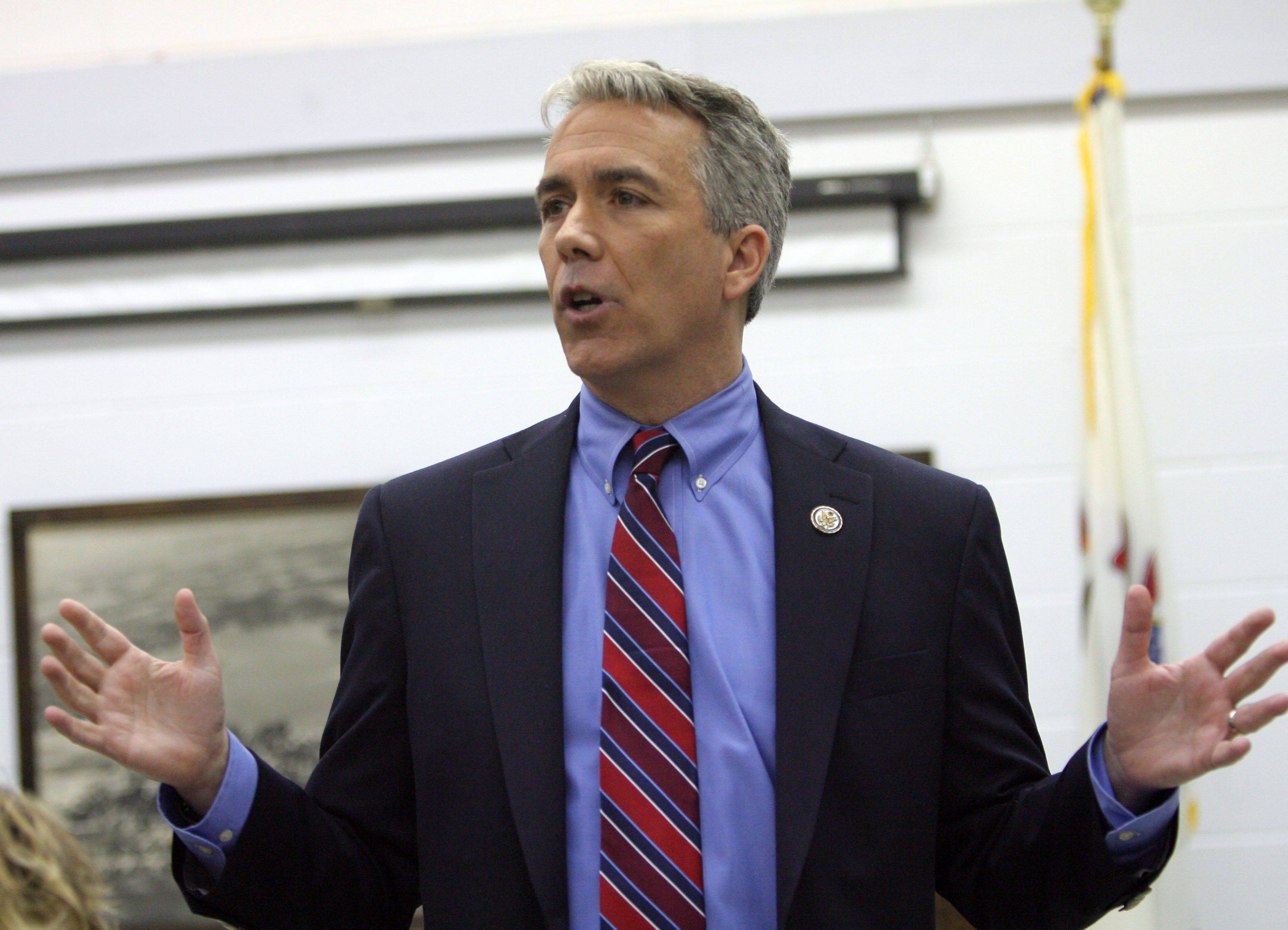 U.S. Rep. Joe Walsh held a town-hall meeting at the Wauconda Township Hall Wednesday night. Part of the discussion dealt with the recent shootings in Tuscon.