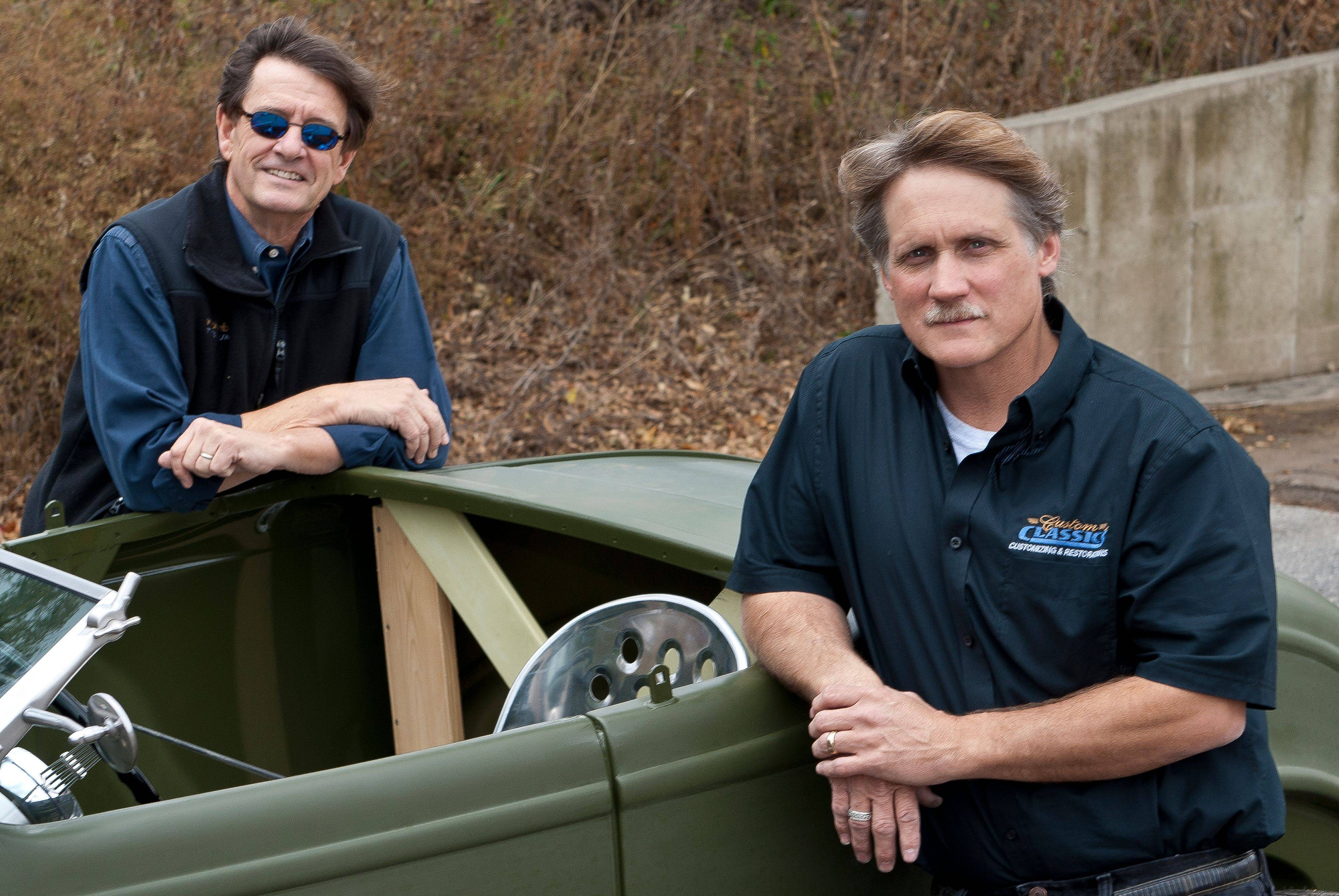 Lake Zurich resident Chuck Caswell and Bryan Reehoff of Barrington are behind the effort to build a hot rod and auction it off to raise money for military families.