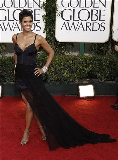 Actress Halle Berry arrives at the Golden Globe Awards Sunday.