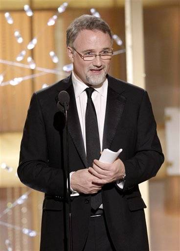 "David Fincher accepts the award for Best Director in a Motion Picture for ""The Social Network"" during the Golden Globe Awards"