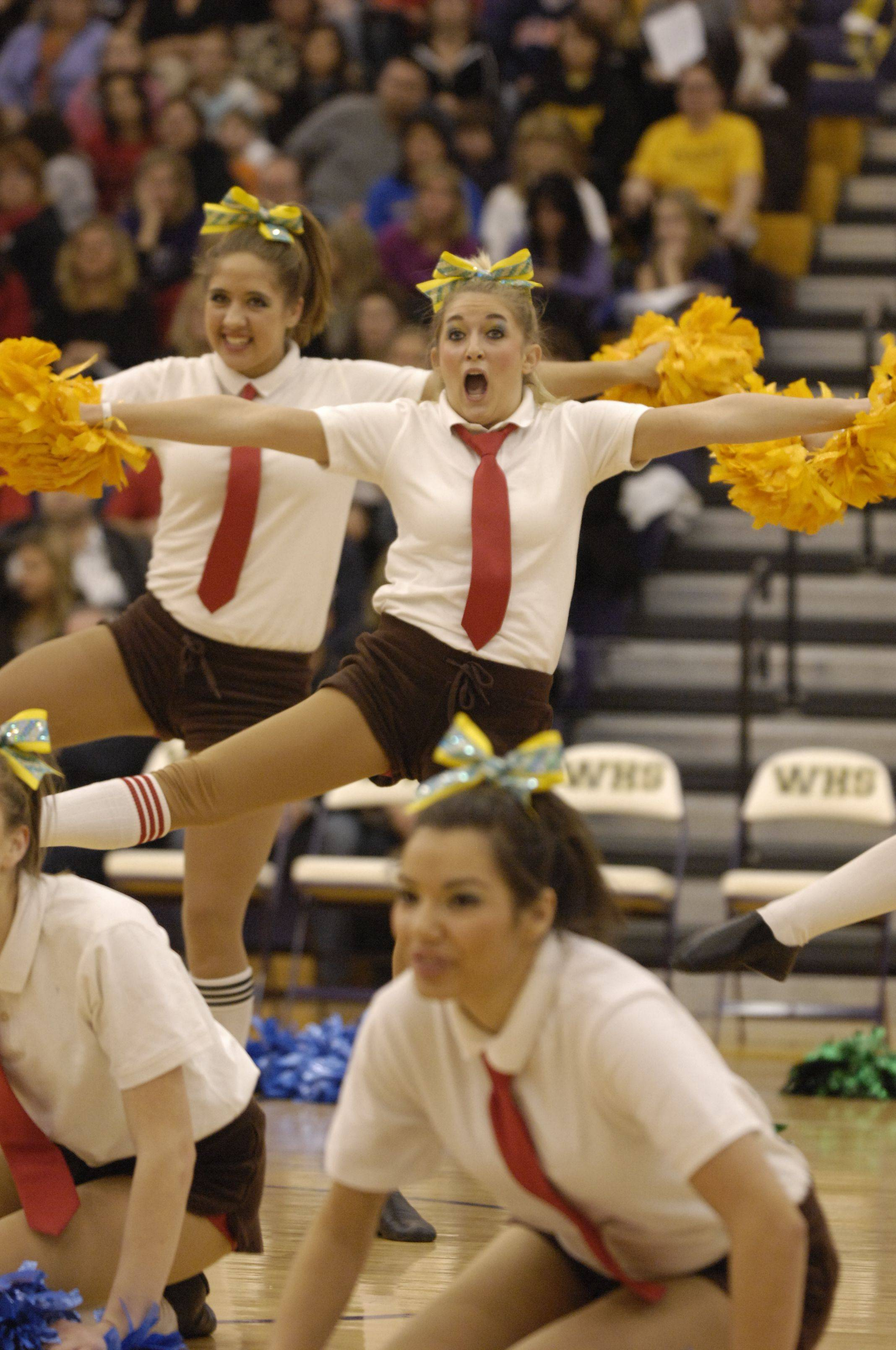 Conant High School JV Poms performs at the Team Dance Illinois Wauconda Invitational competition at Wauconda High School.
