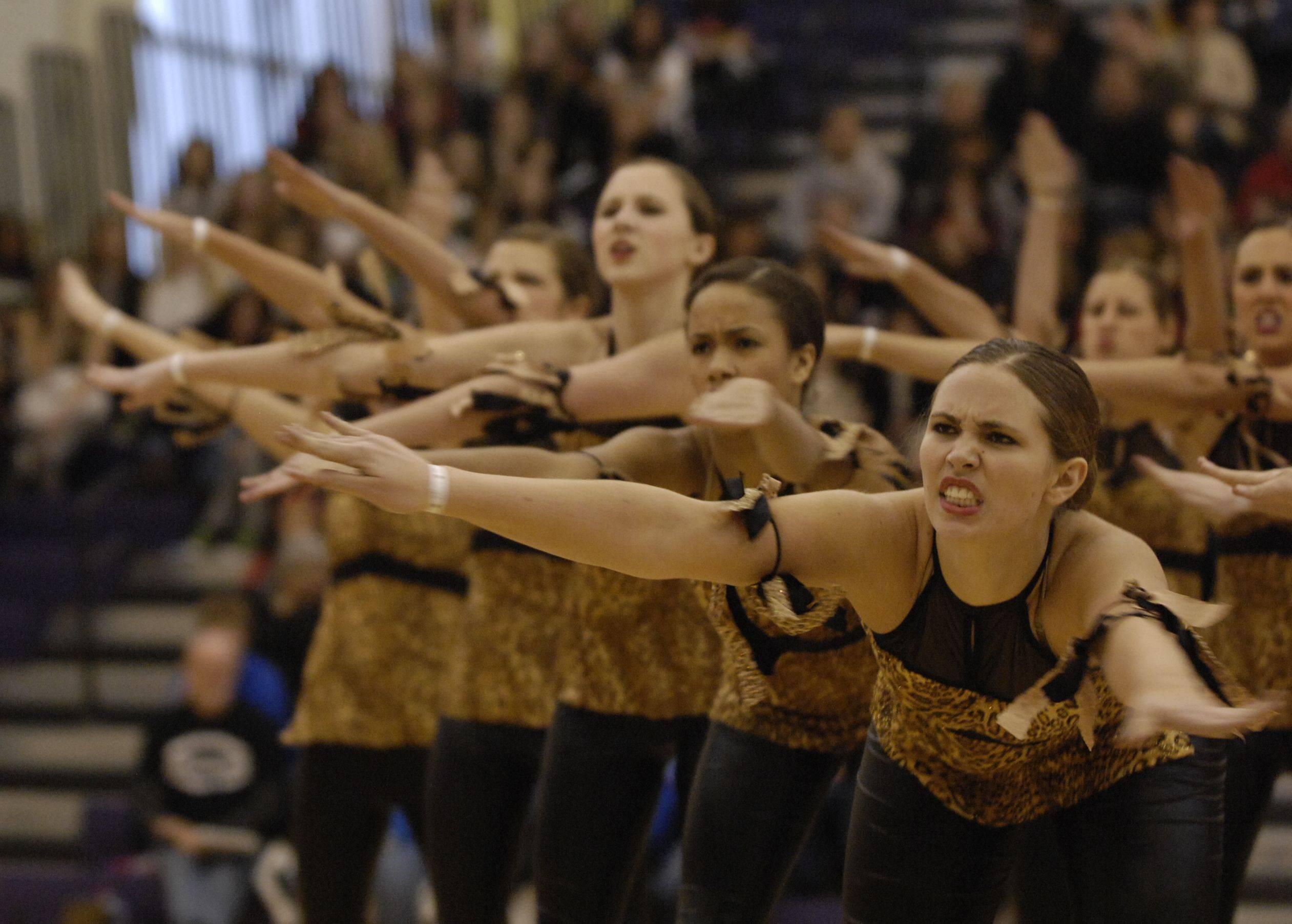 Stevenson High School AAA Kick, performs at the Team Dance Illinois Wauconda Invitational competition at Wauconda High School.