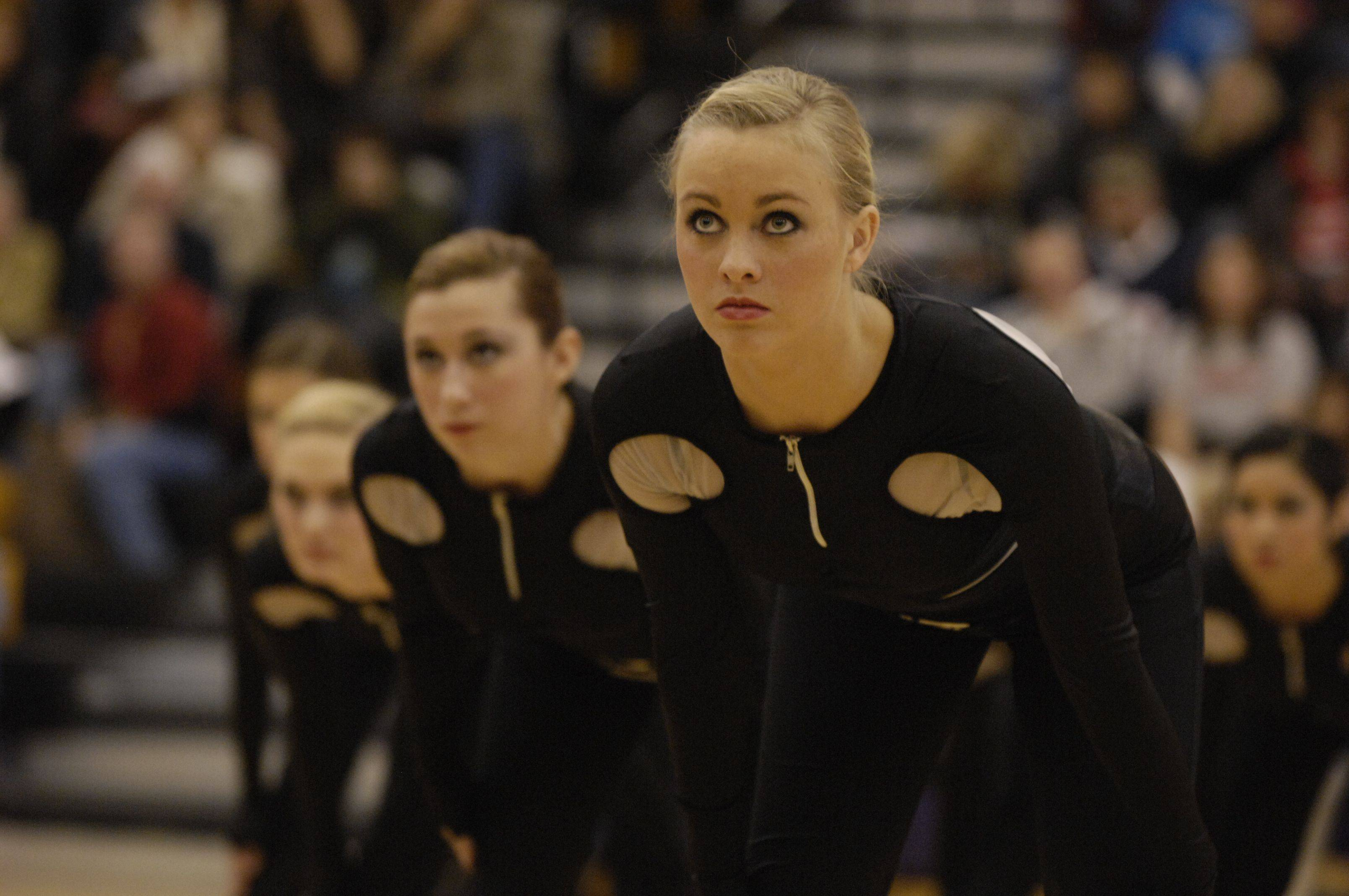 Streamwood High School performs in the AAA Kick division during the Team Dance Illinois Wauconda Invitational competition at Wauconda High School.