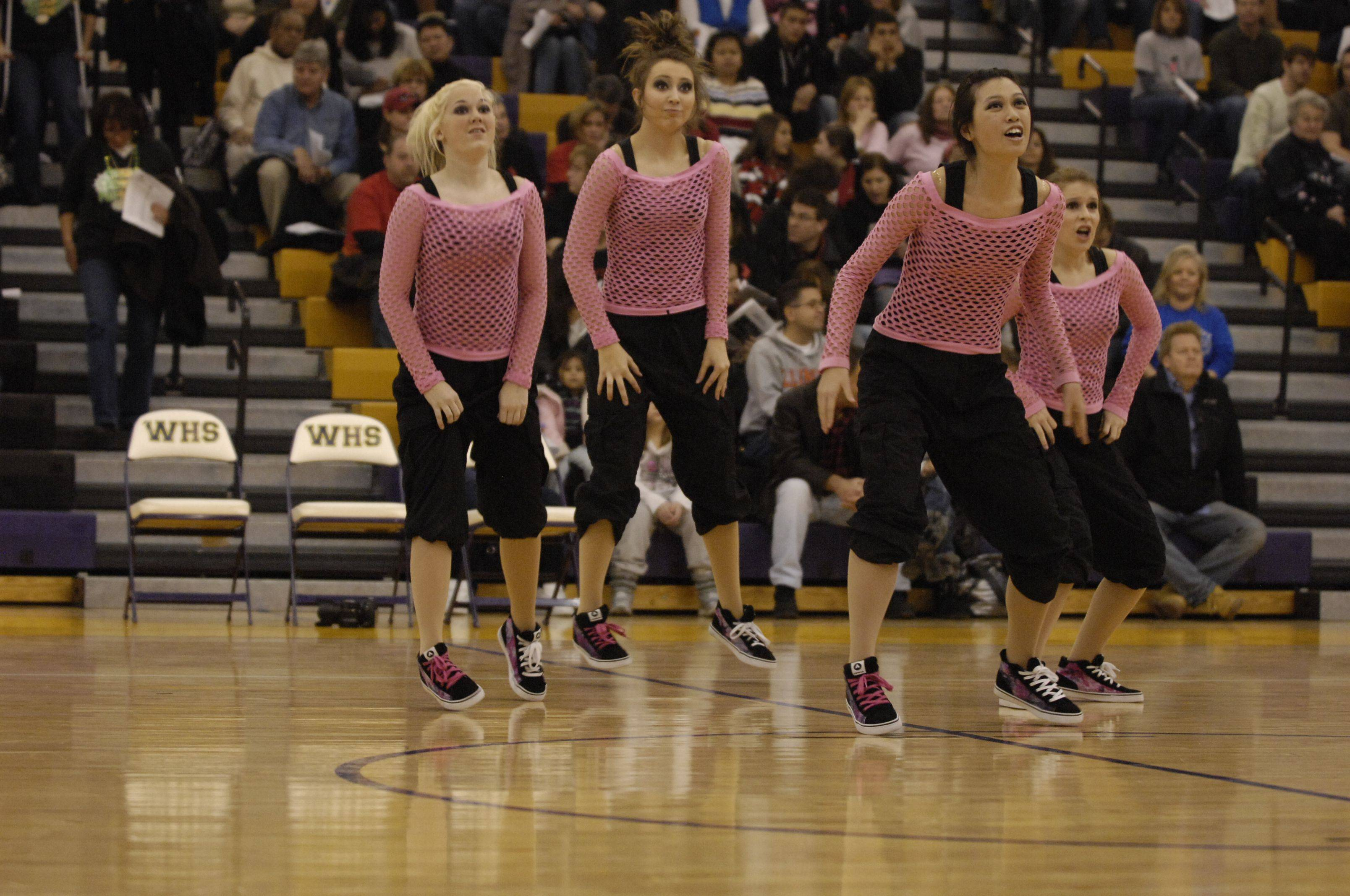 Warren Township High School performs in the JV Hip Hop division during the Team Dance Illinois Wauconda Invitational competition at Wauconda High School.