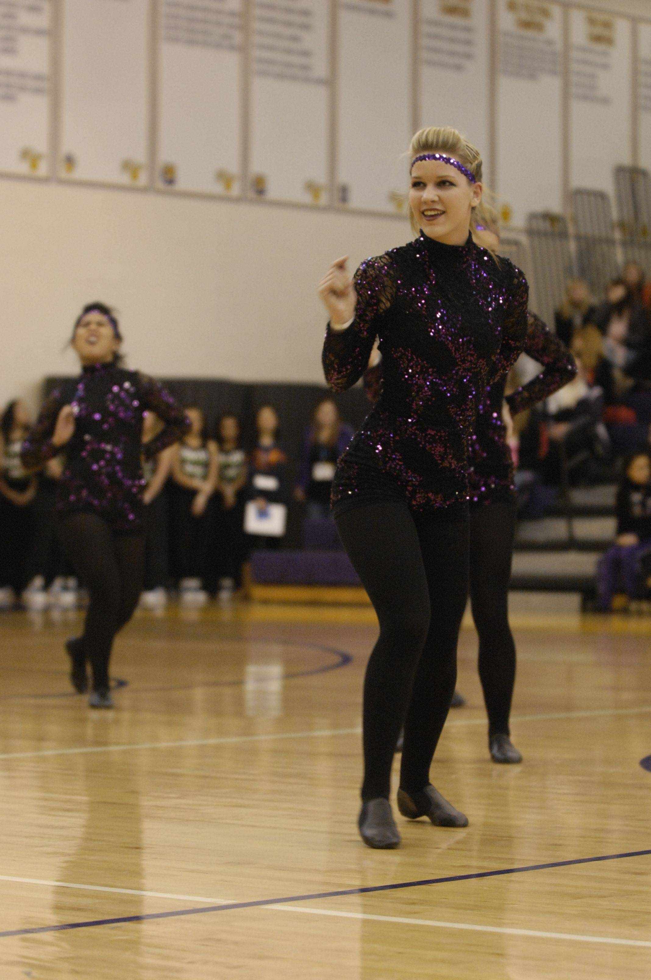 Antioch Community High School performs in the AA Kick division during the Team Dance Illinois Wauconda Invitational competition at Wauconda High School.