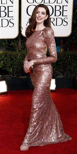 Anne Hathaway was a stunner at the Golden Globes.