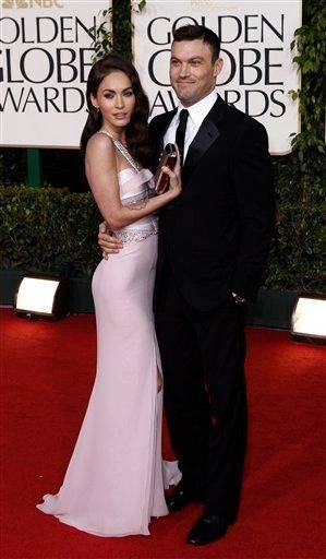 Actors Megan Fox and Brian Austin Green.