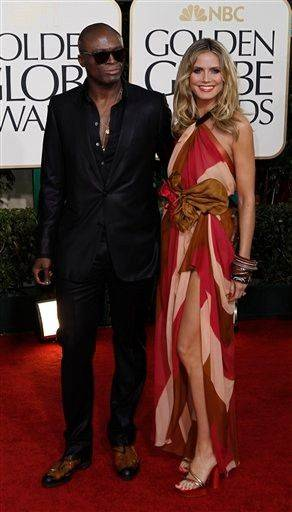 Seal and Heidi Klum. The print was a bold, but not unusual, move for Heidi.