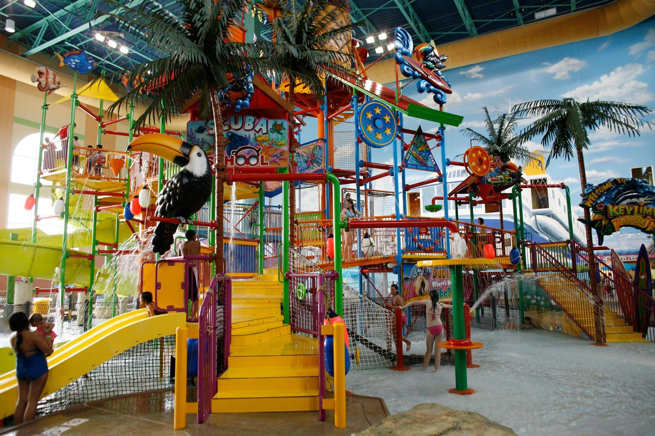 KeyLime Cove in Gurnee appeals to families with its 65,000-square-foot indoor water park.