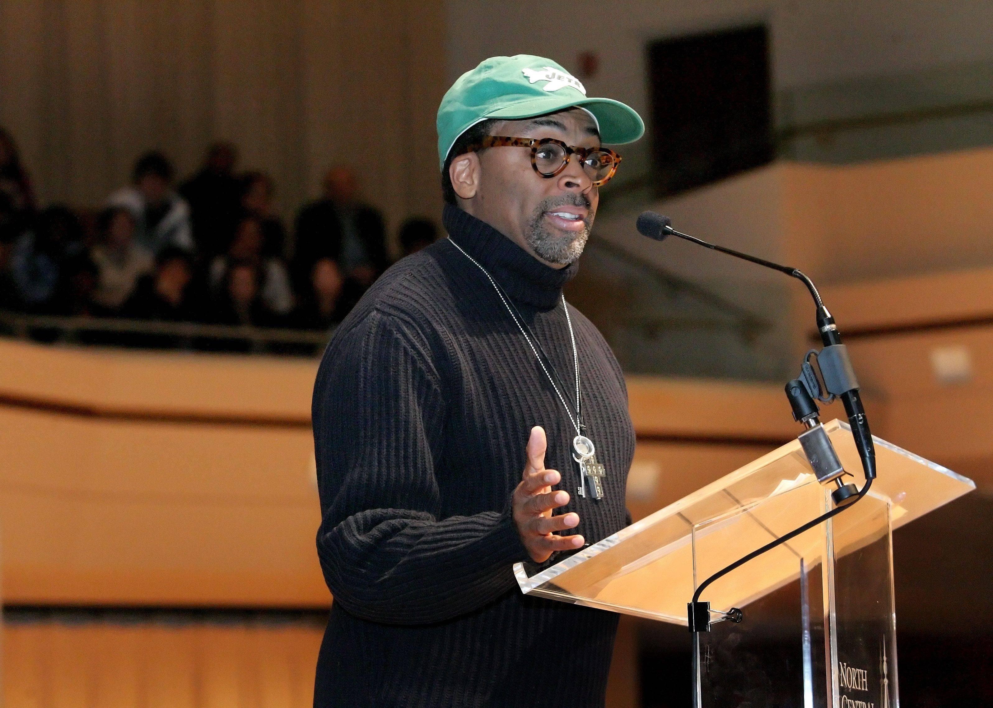 Film director Spike Lee was Tuesday's keynote speaker at Wentz Concert Hall in Naperville for the weeklong celebration of Dr. Martin Luther King at North Central College.