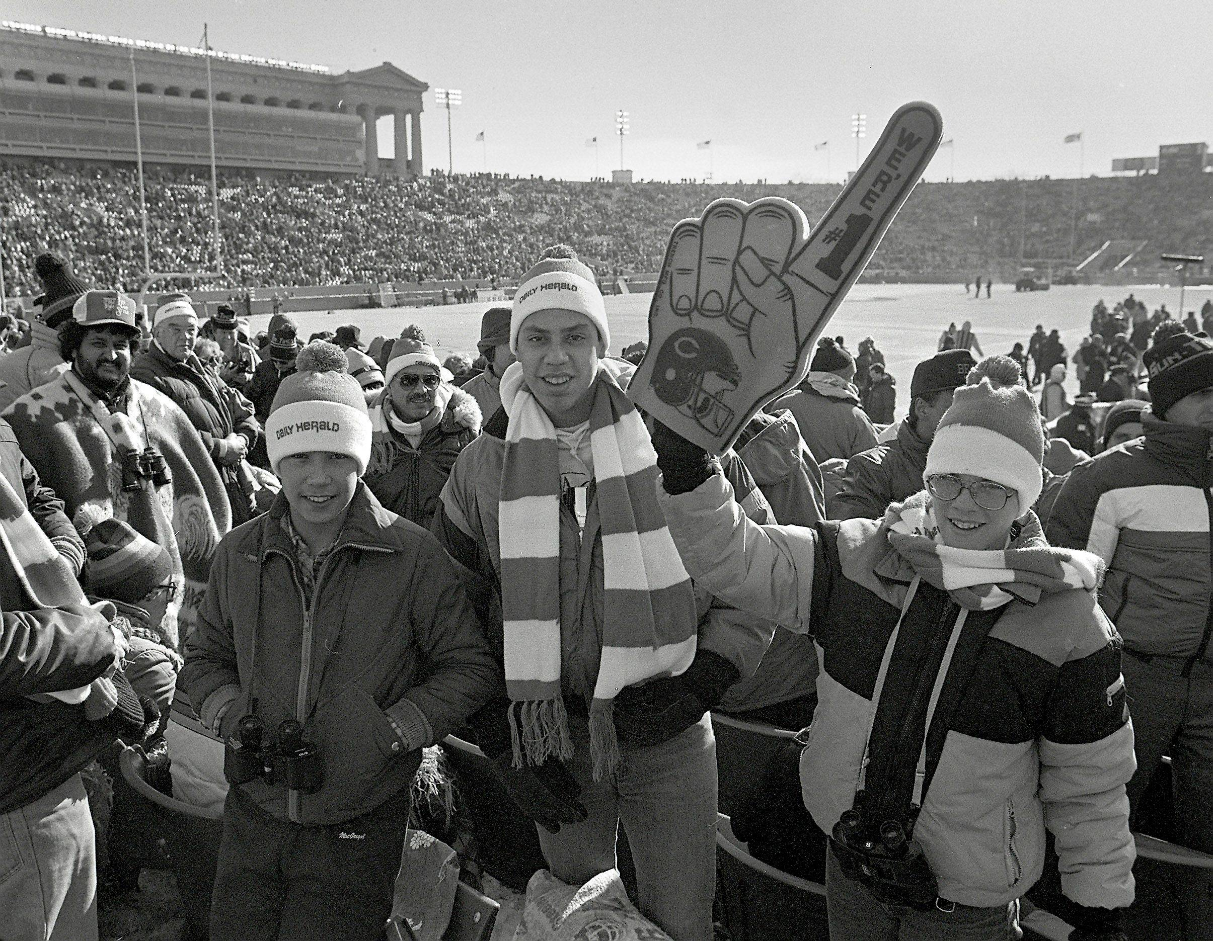 Future NFL player Brady Smith, right, was a 12-year-old Daily Herald newspaper carrier from Barrington when he won tickets to the Bears game against the New York Giants on Jan. 5, 1986.