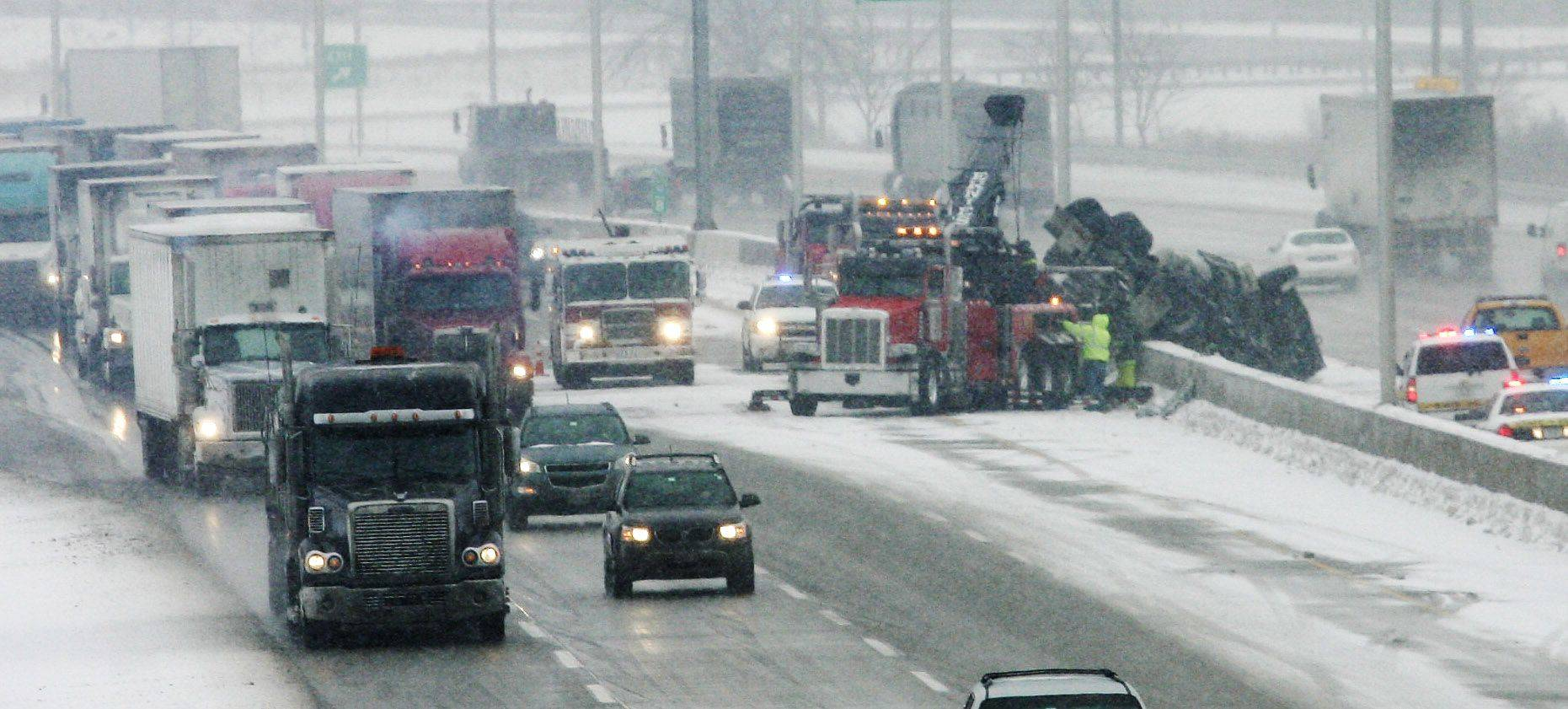 Illinois State Police are still probing the cause of a Monday morning crash on the Tri-State Tollway in Gurnee. Keith Sphar of Hebron was seriously injured after the truck he was driving overturned and hit a concrete median.