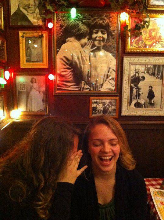 "While at Buca di Beppo in Wheeling on Christmas Eve, Lauren Schauer said to her sister, ""Hey Kelsey, let's recreate this picture."""