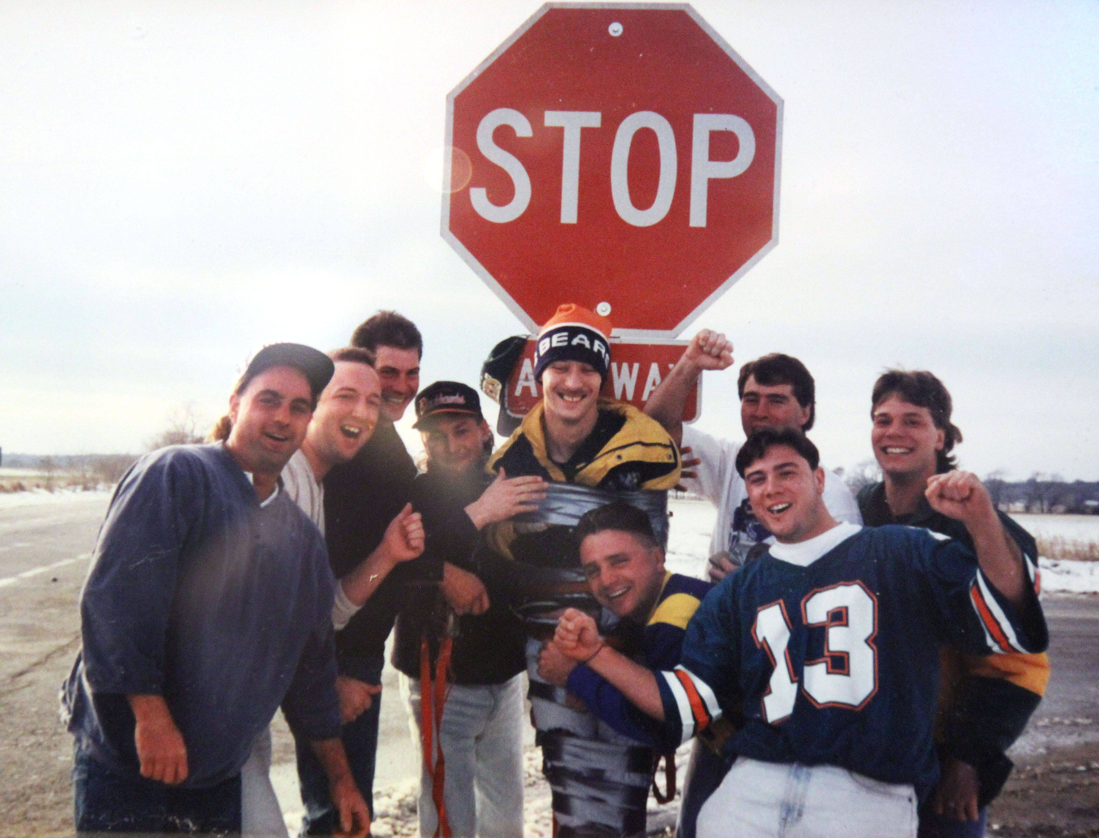 John Cochara of Spring Grove was duct-taped to a stop sign by unhappy Bear fans after the Packers beat the Bears 15 years ago.