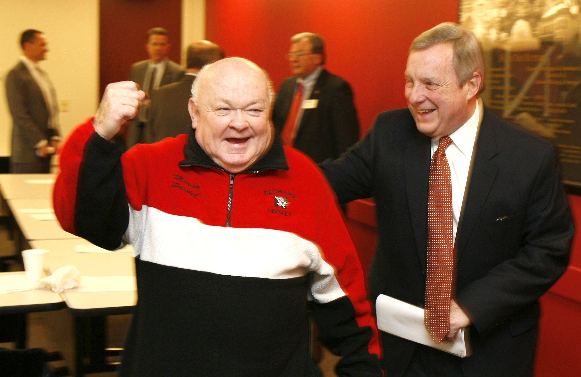 Naperville Mayor George Pradel and Sen. Dick Durbin, are optimistic Naperville businesses will continue to weather the recession.