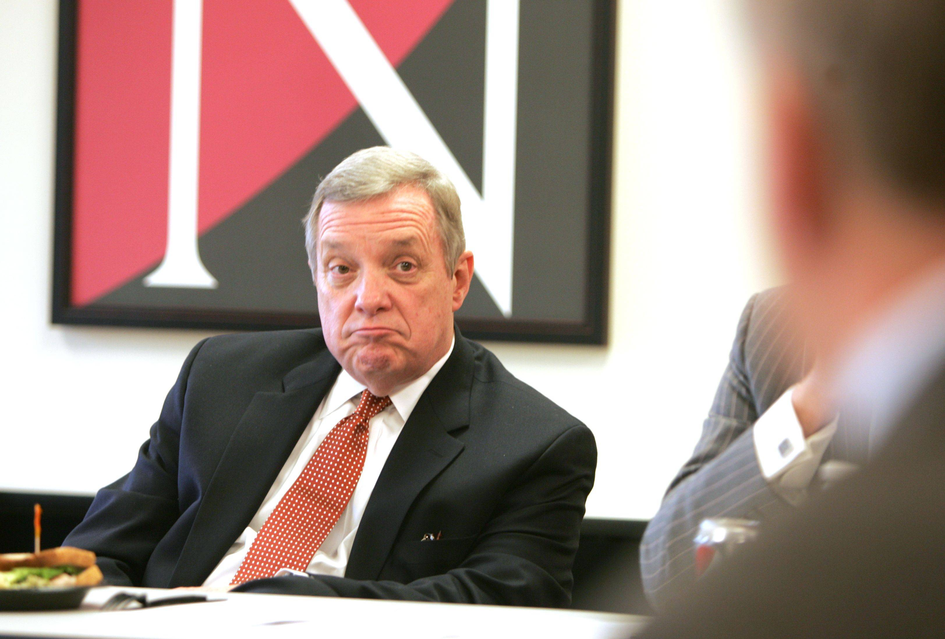 Sen. Dick Durbin met with local business owners to discuss how the federal government can help them succeed.