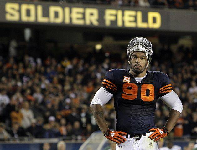 "Bears defensive end Julius Peppers has only 8 sacks this season, but he's capable of taking over the game if the bears put the Packers in obvious passing situations. ""He was everything we thought he could be and more,"" says Brian Urlacher."
