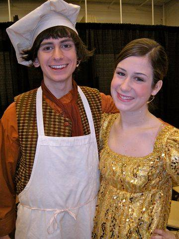"Benet Academy seniors Brett Bush and Allison Jacobs performed together in the Illinois High School Theatre Festival's production of ""Into the Woods."" They'll take the stage together again in Benet's spring musical, ""Oklahoma."""