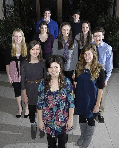 Introducing the Daily Herald 2011 Fox Valley Leadership Team. Front: Kristen Cantieri of Cary-Grove. Second row, from left: Ellie Fink and Allison Sleeting, both of Westminster Christian School. Third row, from left: Elly Jakubowski of Hampshire; Kendall Karr of St. Charles North; Gina Bartindale of St. Charles East; Kacy Rauschenberger, Elgin Academy; and Jacob Miller of IMSA. Back row, from left: Robert Lausen, West Aurora; and Nicholas Kemmler, Elgin Academy.