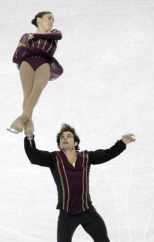 Mary Beth Marley and Rockne Brubaker perform their routine during the pairs short program in the U.S. Figure Skating Championships in Greensboro, N.C., Thursday.