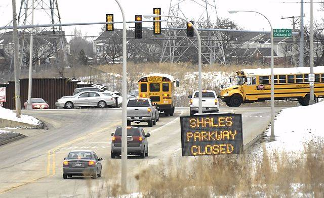 Shales Parkway between Route 19 and Bode Road is one of several roads in Elgin that will be closed during the snow storm.