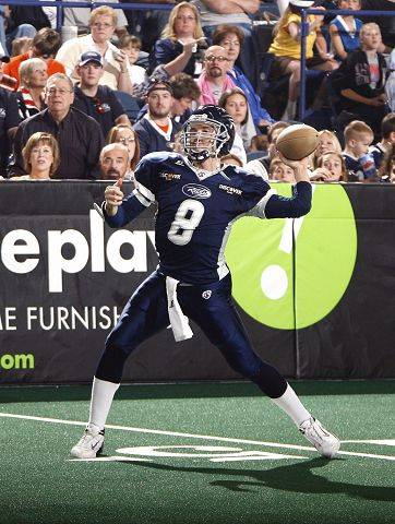 The Chicago Rush will open their home season on March 18 at Allstate Arena in Rosemont. Former Conant High School star Russ Michna, above, was the Rush quarterback from 2007-08.