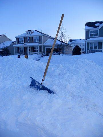 Photo by Cynthia NickettaThis shovel has been used in every Chicago snow storm since the blizzard of 1967.