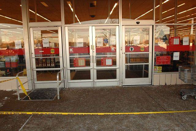 The Naperville Kmart, 1199 E. Ogden Ave., was forced to close Thursday until fire alarm and suppression systems are back in service after a portion of the garden center roof collapsed