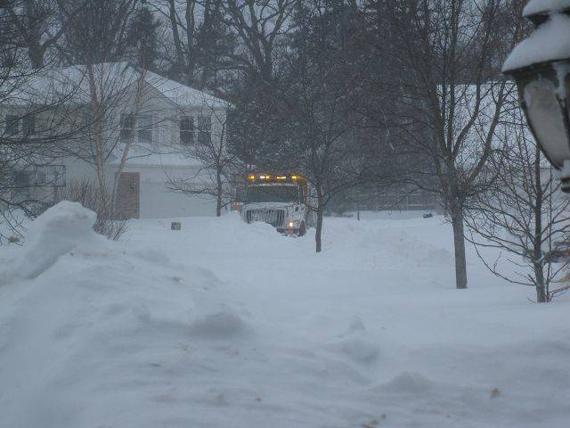 This truck was stuck in Grayslake but managed to get free after an hour and a half, with the help of neighbors, says Karen Mattea.