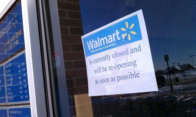 quality design 4eedb e85cc Antioch Walmart closed due to roof problems