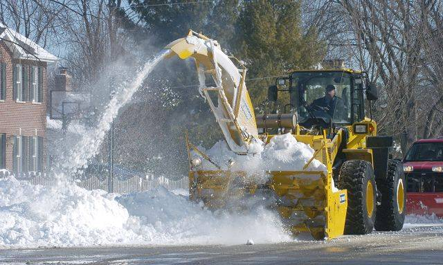 "Arlington Heights officials are using this machine called a ""Snogo"" to remove excess snow from key areas around the city."