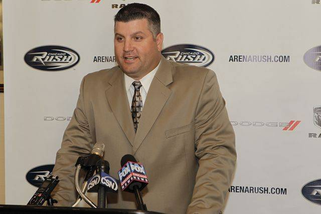 Chicago Rush head coach Bob McMillen of Naperville has a month left to get his Arena Football League team ready for its 10th season. The Rush kicks off its season at Milwaukee on March 14, with the home opener against the Philadelphia Soul at Allstate Arena on March 18.