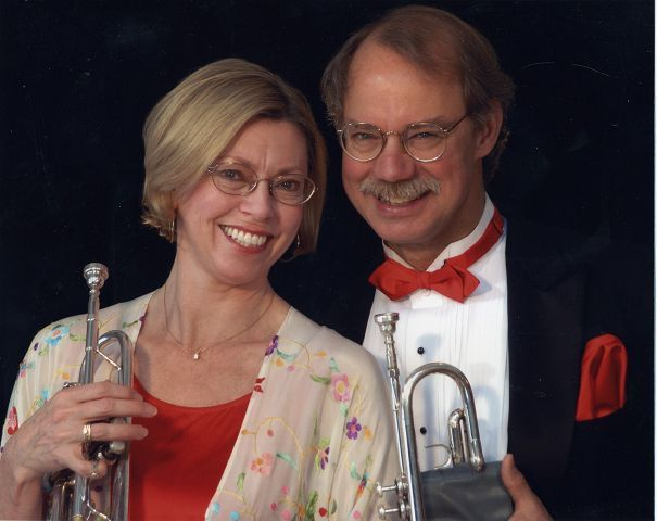 Trumpets may not be thought of as a romantic instrument for Valentine's Day, but as co-principal trumpets in Music of the Baroque, Barbara Butler and Charles Geyer have been making beautiful music together longer than their 32 years of marriage.