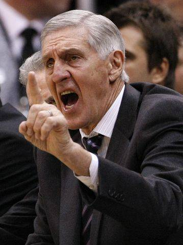 Jerry Sloan was the only NBA coach to eat dinner in the press room on game days.