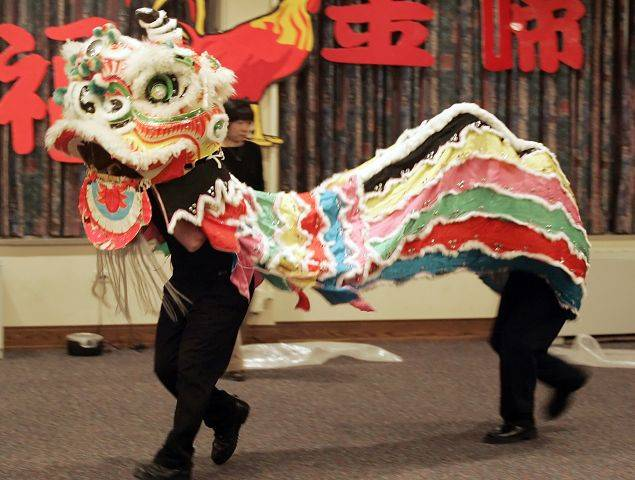 North Central College's celebration of the Chinese New Year will open tonight with a traditional Chinese Lion Dance.