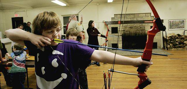 More then 20 people are paticipates in Archery for beginers class Sunday including Chris Seiden, of Bensenville at Herrick Lake Forest Preserve in Wheaton.