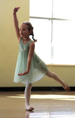 Lily Warren, 5, of Elgin during Dixon Dance Academy Creative Dance 1 and 2 at the Centre in Elgin Tuesday, February 8. The class for ages 3-4 and 4-5 is offered Tuesday, Wednesday and Saturdays.