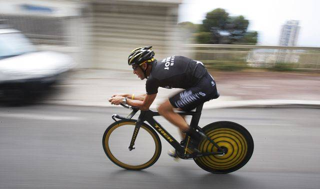 Seven-time Tour de France winner Lance Armstrong of the United States is seen during a training ride in Monaco in 2009, ahead of the start of the 96th edition of the Tour de France.